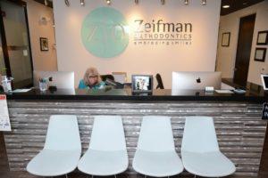 Zeifman Orthodontics front desk