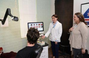 Dr. Zeifman with a patient